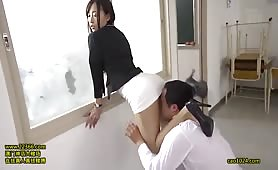 Female Teacher in a Tight Skirt! - Scene 4