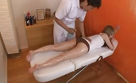 Fucking A Massage Esthetician Despite Being Right Next To Boyfriend - Scene 1